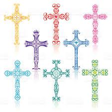 colorful crosses stock vector art 165796688 istock