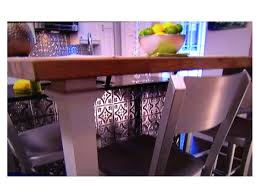 tin backsplash u0026 kitchen island on property brothers decorative