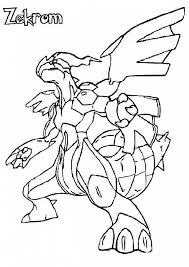 zekrom ex pokemon coloring pages images pokemon images