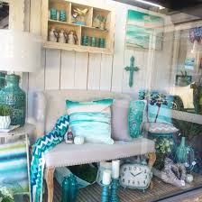 Home Interior Shop Aqua Mint Blue Turquoise Window Display At Our Home Decor Shop