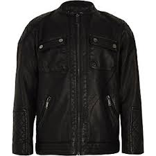 Boys Leather Bomber Jacket Boys Coats U0026 Jackets River Island