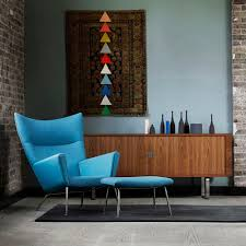 Bright Blue Rug Woodlines Rug Grey Black Naja Utzon Popov Carl Hansen Modern