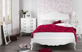 Red White Bedroom Chocolate Brown Leather Bed Frame With Metal Based And High