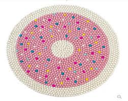 Round Pink Rug For Nursery Room Rug Etsy