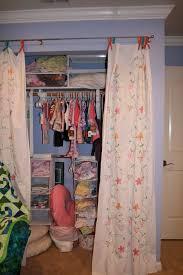 Closet Curtain Replacing Closet Door With Curtain Tracks