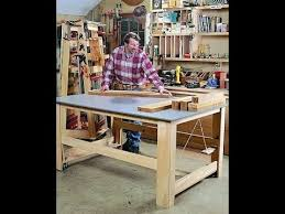 how to build a work table how to build a work table and cl cart part 1 of 2 youtube