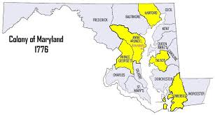 me a map of maryland the colony of maryland thinglink