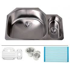 Inch Stainless Steel Undermount  Double Large And Small D - Stainless steel undermount kitchen sinks