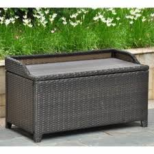 Outdoor Storage Coffee Table Resin Wicker Storage Bench Foter