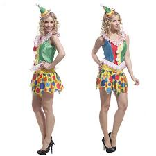 Ladies Clown Halloween Costumes Compare Prices Female Clown Dresses Shopping Buy