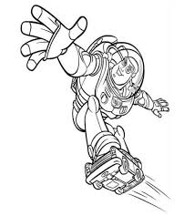 toy story buzz lightyear skating coloring pages coloring 4 kids