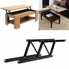 1pair lift up top coffee table lifting frame mechanism spring