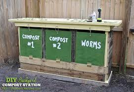 Backyard Composter Diy Backyard Compost Station
