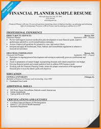 Financial Advisor Resume Examples by Urban Planning Cover Letter