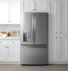 Kitchen Fridge Cabinet Ge Profile Series Energy Star 22 2 Cu Ft Counter Depth French
