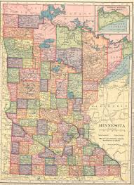 Map Of Minnesota Cities The Usgenweb Archives Digital Map Library Hammonds 1910 Atlas