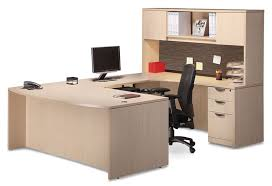 Shaped Desks U Shaped Desk With Hutch And Tackboard Visconti