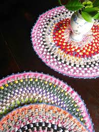 Crochet Rugs With Fabric Strips 88 Best Alfombras Images On Pinterest Crochet Rugs Crafts And