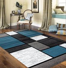7 X 7 Area Rugs Rugshop Contemporary Modern Boxes Area Rug 5 3 X 7