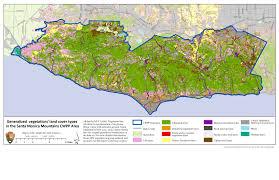 map of santa santa mountains cwpp draft