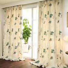 Green And Beige Curtains Leaf Patterned Green Color Cotton Curtains Uk