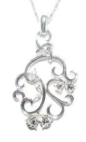 necklace pendant ornament crystals silver borgman fashion