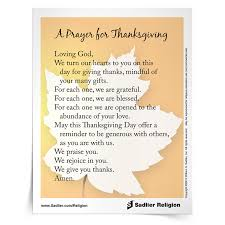 free thanksgiving prayers reflections for catholic families