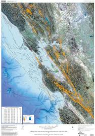 san francisco fault map earthquakes and faults in the san francisco bay area 1970 2003