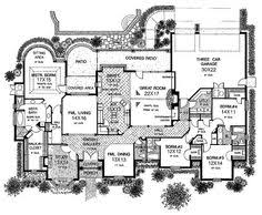 one story house plans with large kitchens plan 44040td for the large family georgian house georgian and