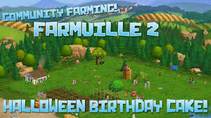 farmville 2 halloween birthday cake episode 19 youtube