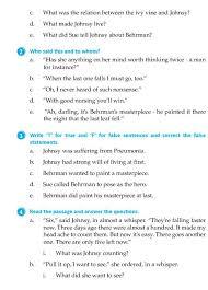 literature grade 7 short stories the last leaf 9 english