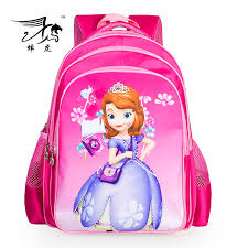 2015 fashion kids backpack princess sofia bags