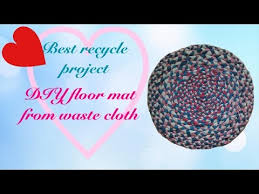 Diy Bathroom Rug Diy Doormat Diy Waste Cloths Doormat Bathroom Mat Hand Made