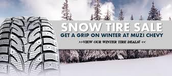 chevy winter tire sale at muzi chevy near boston ma