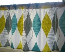 Yellow And Grey Curtain Panels 54 X 60 Teal Curtain Panel Valance Cafe Curtain