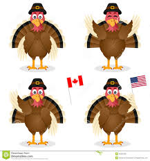 thanksgiving day turkey characters set stock vector image 45265265