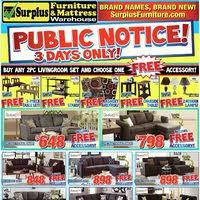 furniture surplus kitchener surplus furniture flyer kitchener on redflagdeals