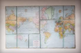 Map Wall Decor by Canvas Map Wall Decor Guest Tutorial Birdie Secrets