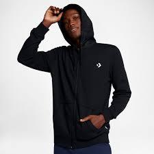 trend converse hoodies converse mixed media full zip hoodie men