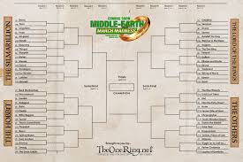 middle earth march madness round 1 bracket vote now hobbit