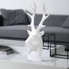 creative white ceramic deer figurines ornaments porcelain