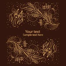 brown ornaments vector backgrounds 01 vector background free