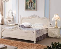 French White Bedroom Furniture by Solid Wood Bed Korean French Country Style Bed Adults 18 M Large