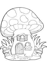 coloring pages mushroom house catherine chernyakova
