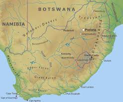a picture of south africa map south africa physical map