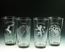game of thrones glasses glassware set of 4