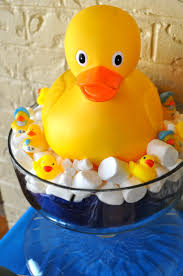 122 best baby shower rubber duckie images on pinterest ducky simple duck centerpiece from the baby shower today oversized baby duck ordered on amazon
