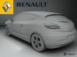 renault megane coupe 2009 3d model cgtrader
