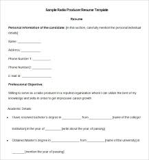 Sample Personal Information In Resume by Media Resume Template U2013 31 Free Samples Examples Format