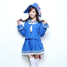 Halloween Costumes Sailor Woman Wadanohara Blue Sea Wadanohara Cosplay Costume